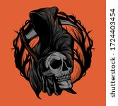 reaper vector  a vector that is ... | Shutterstock .eps vector #1724403454