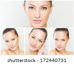collage of a beautiful woman... | Shutterstock . vector #172440731
