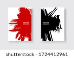 black and red abstract design... | Shutterstock .eps vector #1724412961