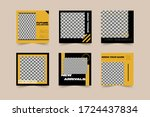 yellow street fashion sale for...   Shutterstock .eps vector #1724437834