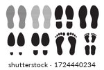 footprints human silhouette ... | Shutterstock .eps vector #1724440234