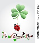 st. patrick's day card with... | Shutterstock .eps vector #172444157