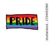 lettering text pride in doodle...   Shutterstock .eps vector #1724452984