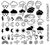 weather flat icons. line theme... | Shutterstock .eps vector #1724466397