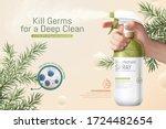 3d illustration of disinfectant ... | Shutterstock .eps vector #1724482654