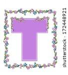 the letter t  in the alphabet... | Shutterstock . vector #172448921