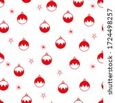 seamless pattern with christmas ... | Shutterstock .eps vector #1724498257