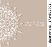 invitation or card template...   Shutterstock .eps vector #1724513701