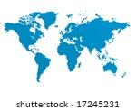world map | Shutterstock .eps vector #17245231