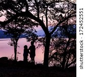 silhouette love mom and son... | Shutterstock . vector #172452551