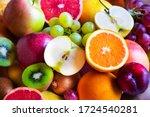 Various fruits  kiwi  orange ...