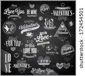 valentine s day set   emblems... | Shutterstock .eps vector #172454501
