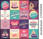 valentine s day set   labels ... | Shutterstock .eps vector #172454504