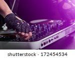 dj hands on equipment deck   Shutterstock . vector #172454534