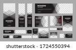 set of creative web banners of... | Shutterstock .eps vector #1724550394