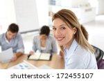 successful businesswoman... | Shutterstock . vector #172455107