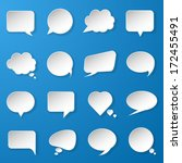 modern paper speech bubbles set ... | Shutterstock .eps vector #172455491