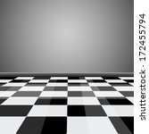 room with glossy checkered... | Shutterstock .eps vector #172455794