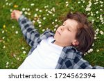 portrait of calm young male... | Shutterstock . vector #1724562394