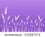 flowers silhouettes on purple...