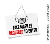 face mask is required to enter... | Shutterstock .eps vector #1724599684