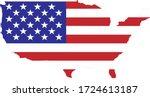 Vector Usa Flag And Map