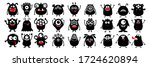 happy halloween. monster black...   Shutterstock .eps vector #1724620894