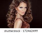wavy hair. beautiful sexy... | Shutterstock . vector #172462499