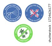 coronavirus free icon set.... | Shutterstock .eps vector #1724626177