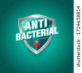 antibacterial hand sanitizer... | Shutterstock .eps vector #1724658814