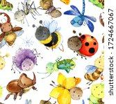 Cartoon Insects Seamless...
