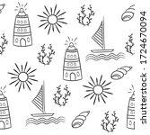 summer seamless pattern in... | Shutterstock .eps vector #1724670094