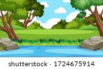 background scene with many... | Shutterstock .eps vector #1724675914