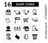shopping and e commerce icons... | Shutterstock .eps vector #172468097