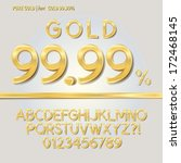 Pure Gold Alphabet And Digit...