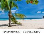 Sunny Beach With White Sand ...
