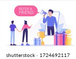 referral marketing concept.... | Shutterstock .eps vector #1724692117