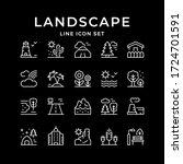 set line outline icons of... | Shutterstock .eps vector #1724701591