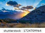 Mountain Hill Sunset Sky Clouds