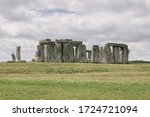 Stonehenge With Cloudy Sky...