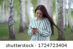 beautiful girl with a...   Shutterstock . vector #1724723404