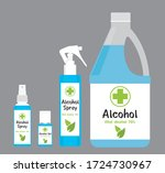 alcohol alcohol gel alcohol... | Shutterstock .eps vector #1724730967