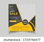 sale social media post template.... | Shutterstock .eps vector #1724746477