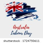 australia labour day holiday....   Shutterstock . vector #1724750611