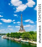Small photo of Day view of Eiffel Tower