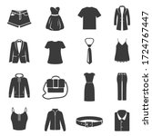 big set of female  male dress ... | Shutterstock .eps vector #1724767447