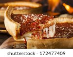 chicago style deep dish cheese... | Shutterstock . vector #172477409