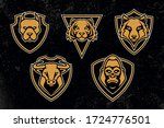 emblem design templates with... | Shutterstock .eps vector #1724776501