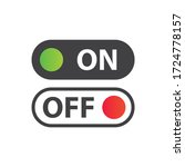 on off vector icon. switch...