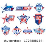 made in usa labels  quality... | Shutterstock .eps vector #1724808184